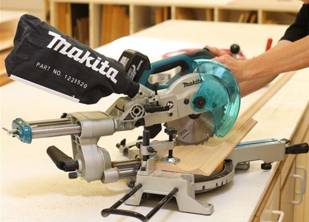 Cutting A Skirting Board Using A Mitre Saw